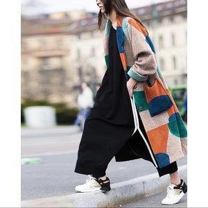 Jackets & Blazers - ✔️S O L D ✔️Lapel Print Long Sleeve Coat